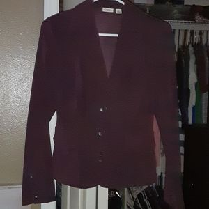 Cato Long Sleeve Purple 3 Button Career Blazer
